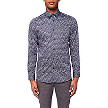 Buy Ted Baker Lysee Long Sleeve Shirt, Navy Online at johnlewis.com