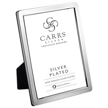 Buy Carrs Curve Silver Plated Photo Frame Online at johnlewis.com