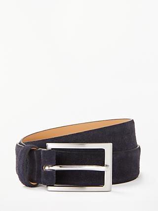 John Lewis & Partners Suede Leather Belt