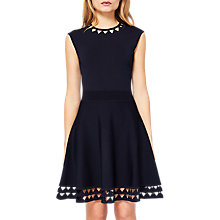 Buy Ted Baker Knitted Skater Dress, Navy Online at johnlewis.com