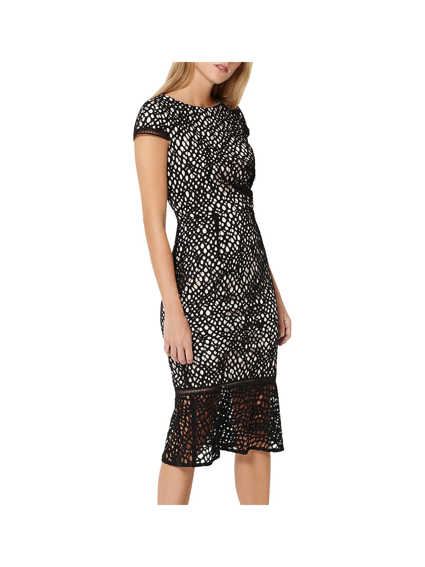 7403984b6f43 Buy Damsel in a Dress Caspian Lace Dress, Black/Blush, 8 Online at ...