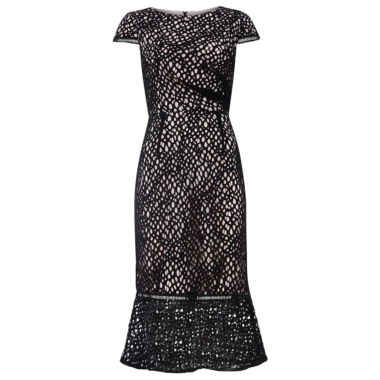 Damsel In A Dress Kelsie Dress Black At John Lewis: Damsel In A Dress Caspian Lace Dress, Black/Blush At John