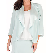 Buy Chesca Crepe Shrug, Aqua/Multi Online at johnlewis.com