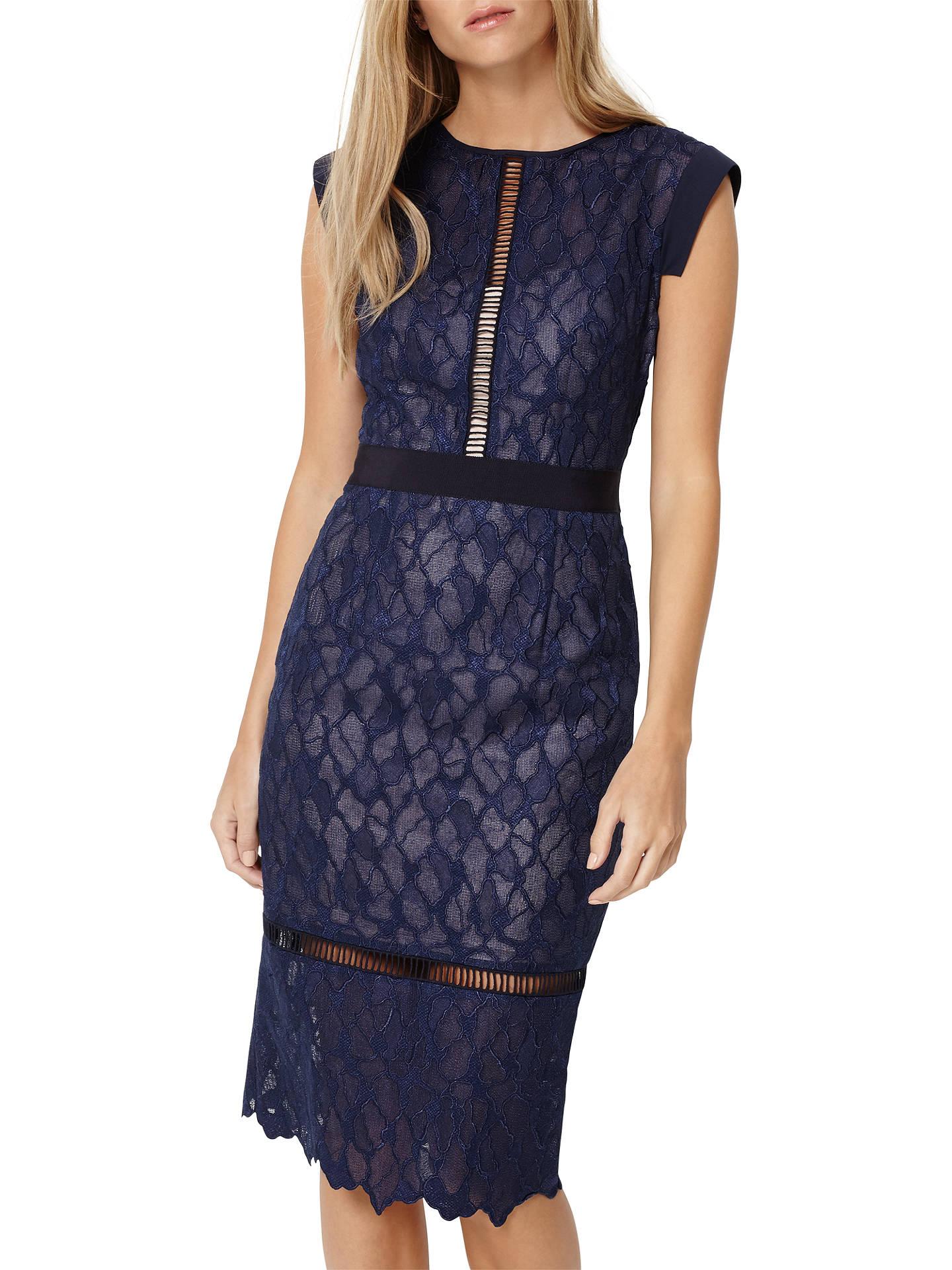 a514210e3e56 Buy Damsel in a dress Maneki Lace Dress, Navy, 8 Online at johnlewis.