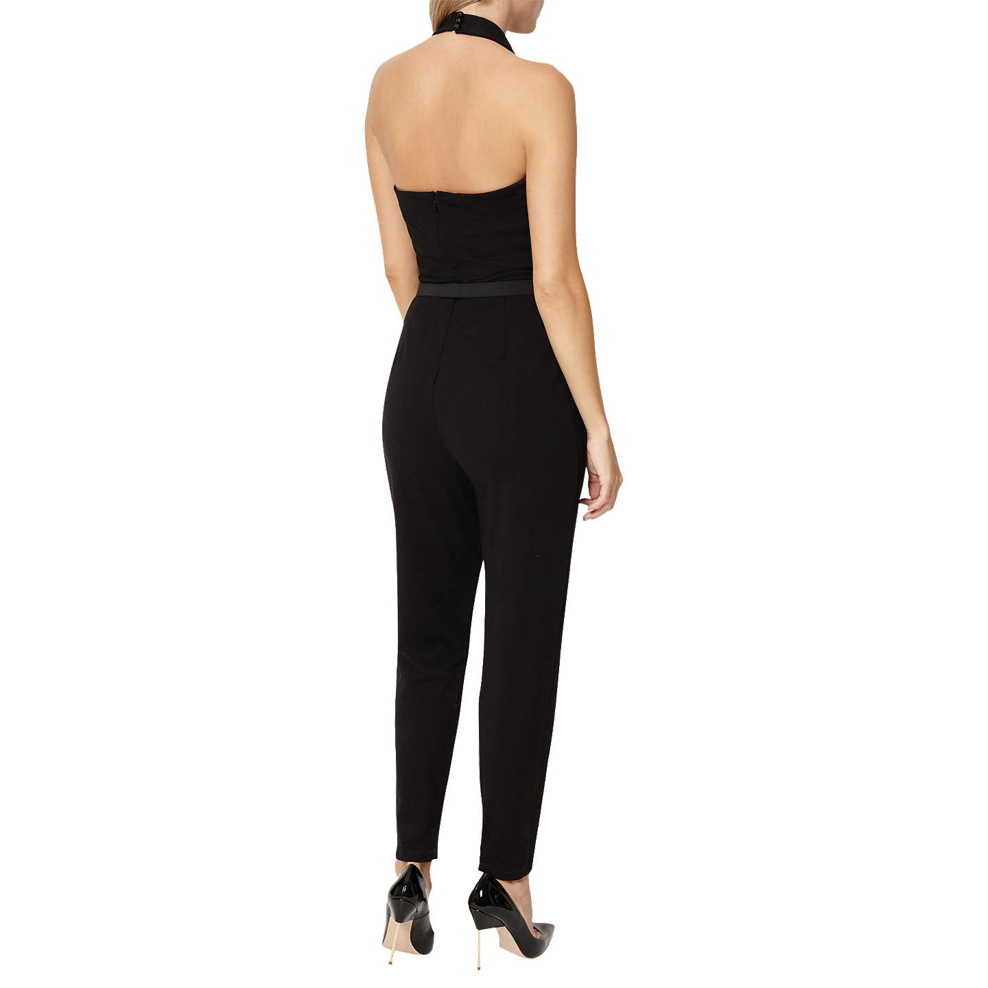 BuyDamsel in a dress Halterneck Jumpsuit, Black, 18 Online at johnlewis.com