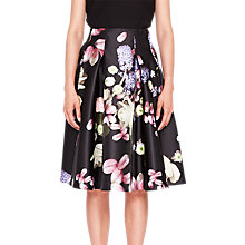 Buy Ted Baker Kensington Floral Full Skirt, Black Online at johnlewis.com