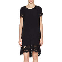 Buy French Connection Lace Trim Tunic Dress, Black Online at johnlewis.com