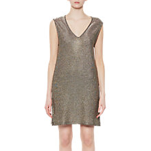 Buy French Connection Leah Metallic Jersey Tunic, Gold Online at johnlewis.com