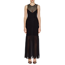 Buy French Connection Chantilly Beau Jersey Maxi Dress, Black Online at johnlewis.com