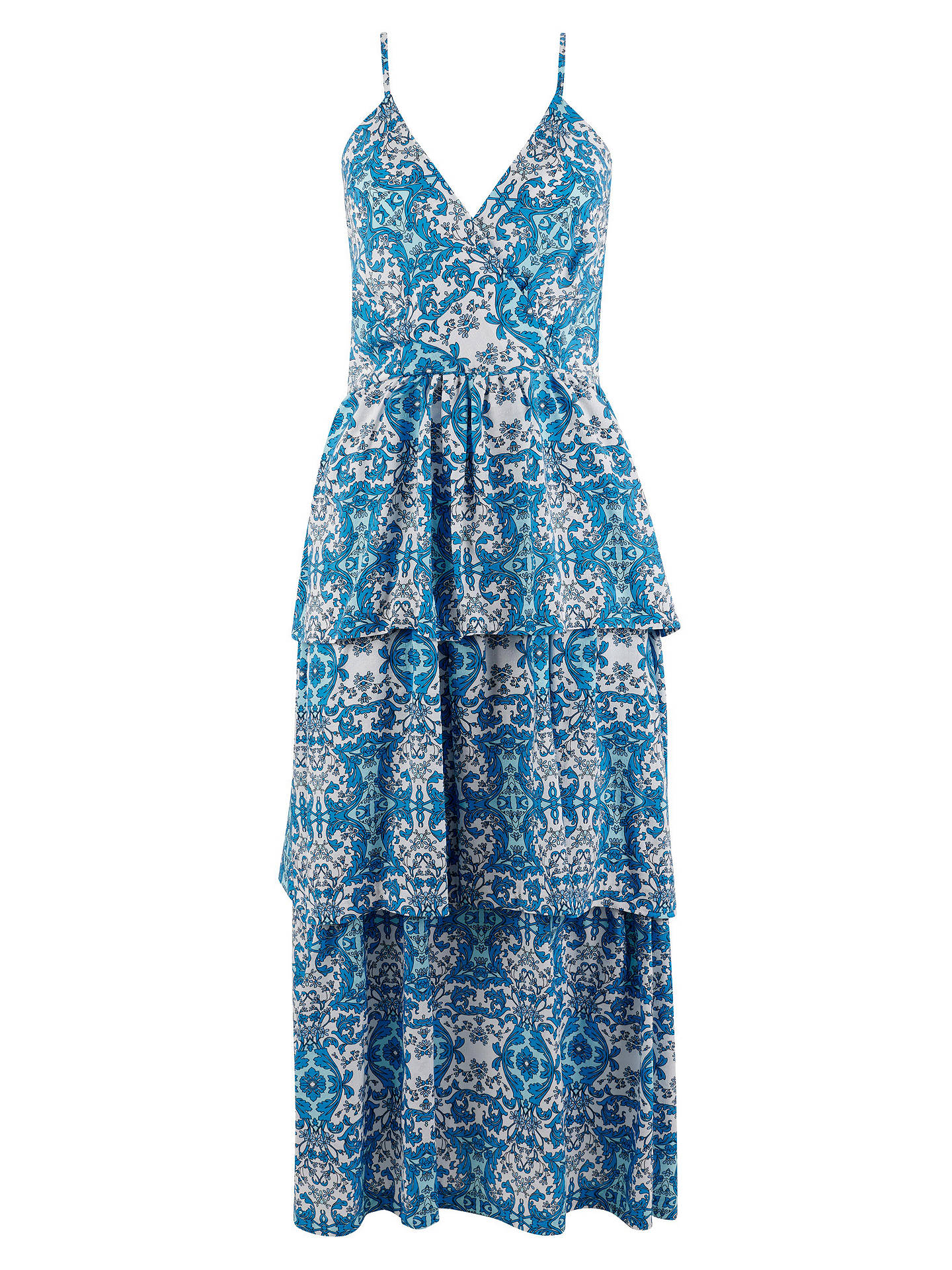 BuyCloset Ruffle Layer Dress, Blue, 8 Online at johnlewis.com