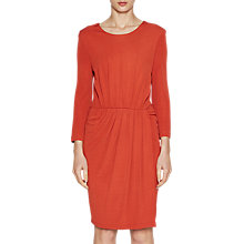 Buy French Connection Elsa Drape Jersey Dress, Copper Coin Online at johnlewis.com