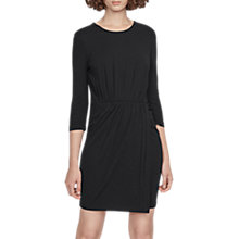 Buy French Connection Elsa Drape Jersey Round Neck Dress Online at johnlewis.com