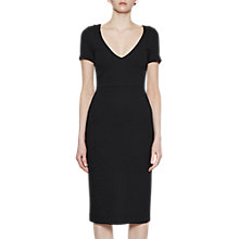 Buy French Connection Lula Stretch V-Neck Dress, Black Online at johnlewis.com
