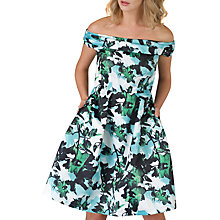 Buy Closet Off The Shoulder Dress, Blue/Green Online at johnlewis.com