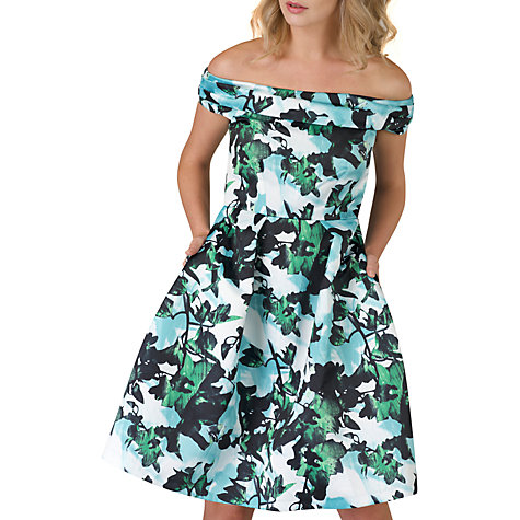 Buy Closet Off The Shoulder Dress, Blue/Green Online At Johnlewis.com ...