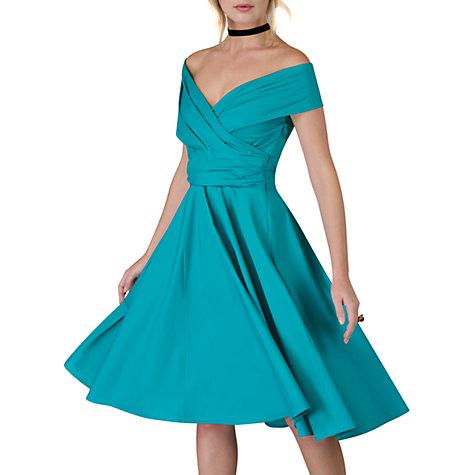 Buy Closet Cross Over Panel Dress, Green Online At Johnlewis.com ...