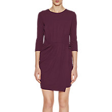 Buy French Connection Elsa Drape Jersey Dress, Deepest Purple Online at johnlewis.com