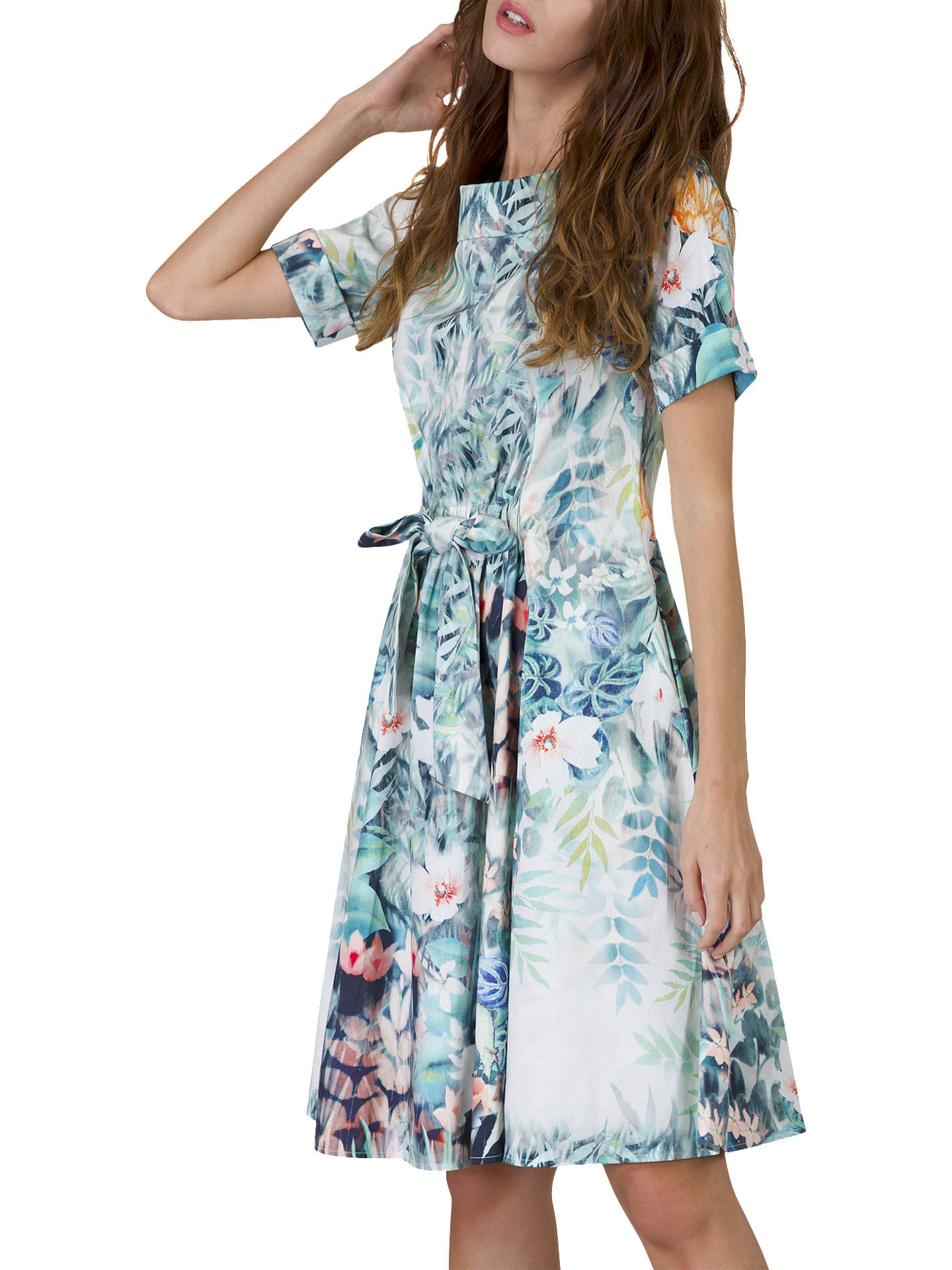 Buy Closet Tie Waist Dress, Multi, 8 Online at johnlewis.com