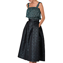 Buy Closet Pleated Midi Skirt, Green Online at johnlewis.com