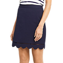 Buy Oasis Scallop Skirt, Navy Online at johnlewis.com
