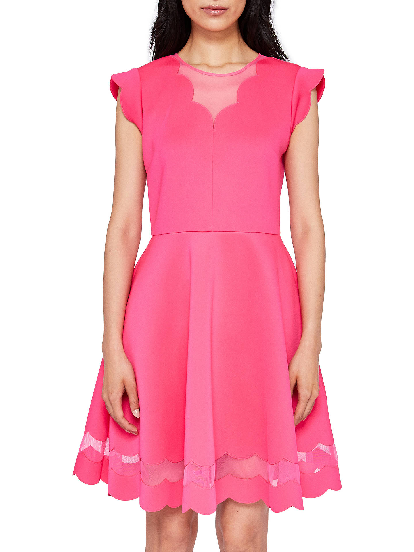 bb8048f7413f Ted Baker Scallop Skater Dress at John Lewis   Partners