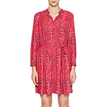 Buy French Connection Frances Drape Dress, Watermelon Online at johnlewis.com