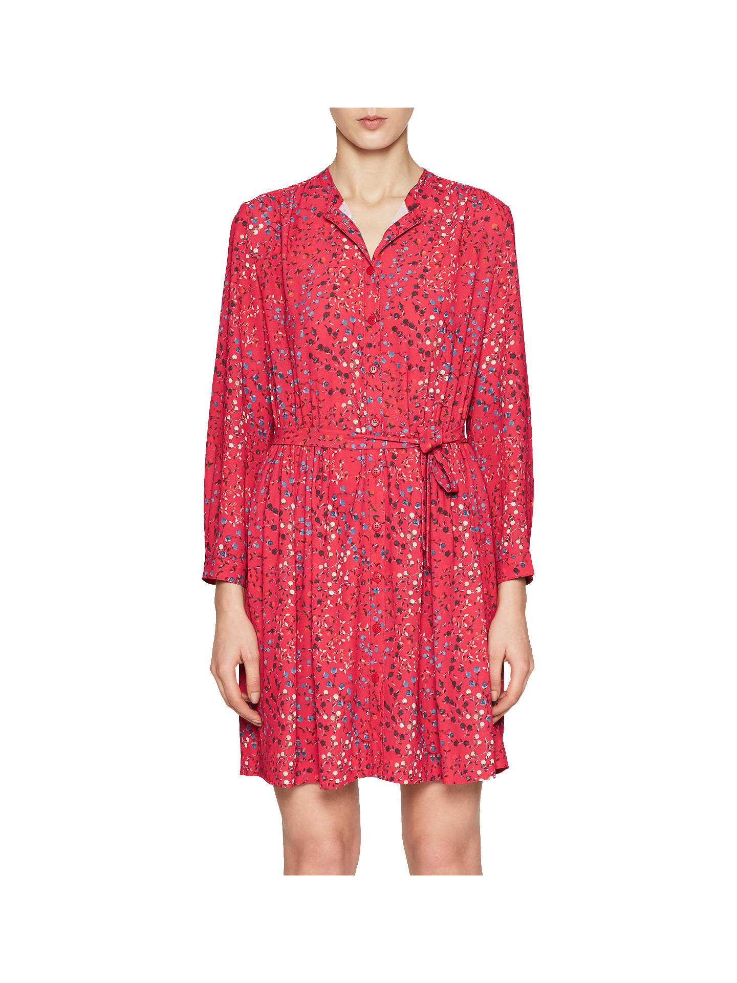 Buy French Connection Frances Drape Dress, Watermelon, 6 Online at johnlewis.com