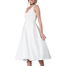 Buy Closet Pleated Dress, White Online at johnlewis.com