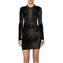Buy French Connection Eddie Velvet Jersey Dress, Black Online at johnlewis.com