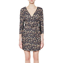 Buy French Connection Hallie Print Jersey Wrap Dress, Black/Multi Online at johnlewis.com