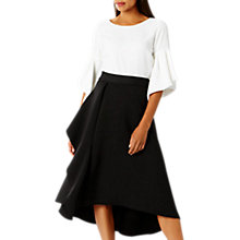 Buy Coast Gracie Frill Skirt, Black Online at johnlewis.com