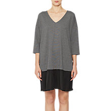 Buy French Connection Estella Jersey Tunic Dress, Grey/Black Online at johnlewis.com
