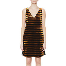 Buy French Connection Emma Stripe Lace Back Dress, Black/Willow Online at johnlewis.com