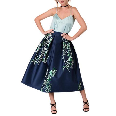 Buy Closet Pleated Midi Skirt, Navy Online At Johnlewis.com ...