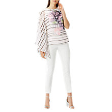 Buy Coast Roma Print Top, Baby Pink/Black Online at johnlewis.com