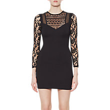 Buy French Connection Mia Beau Long Sleeve Dress, Black Online at johnlewis.com