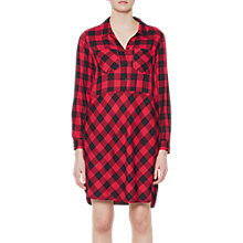 Buy French Connection Margot Shirt Dress, Red/Black Online at johnlewis.com