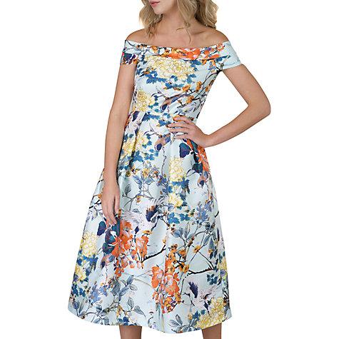 Buy Closet Floral Off Shoulder Dress, Multi Online At Johnlewis.com ...