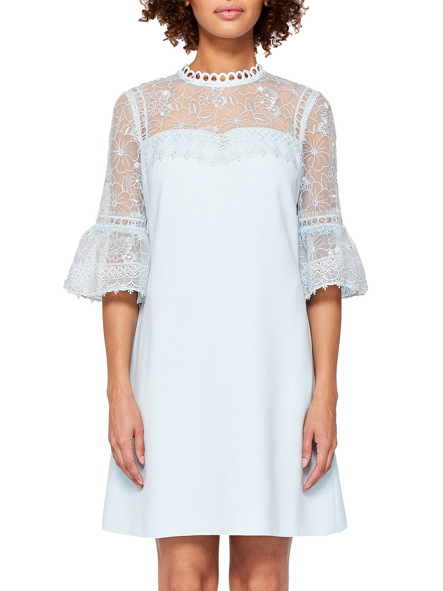 Ted Baker Raechal Lace Peplum Dress At John Lewis Amp Partners