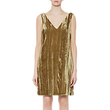Buy French Connection Theresa Velvet V-Neck Dress, Willow Online at johnlewis.com