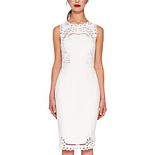 Buy Ted Baker Verita Embroidered Dress, Cream Online at johnlewis.com