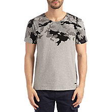 Buy BOSS Orange Timbit Camouflage T-Shirt, Light/Pastel Grey Online at johnlewis.com