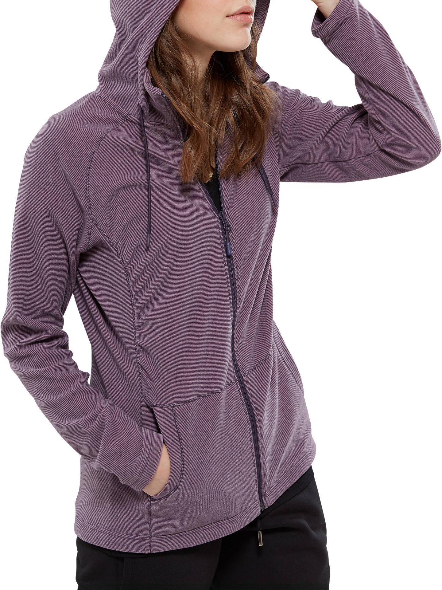 The North Face Mezzaluna Full Zip Fleece Hoodie, Purple at