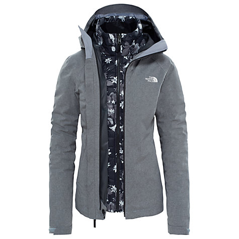 North face 3 in 1 womens jacket black