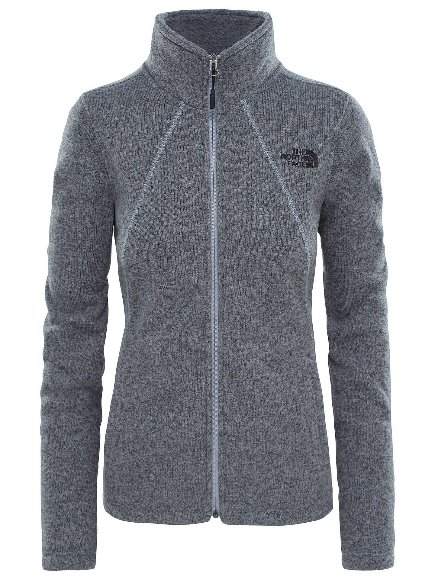941331773a0 The North Face Crescent Full Zip Women's Fleece Jacket, Grey at John ...