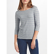 Buy John Lewis Three Quarter Sleeve Chevron Top Online at johnlewis.com