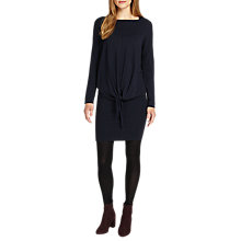 Buy Phase Eight Jolanda Tie Front Dress, Navy Online at johnlewis.com