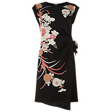 Buy Phase Eight Oriental Print Dress, Black Online at johnlewis.com