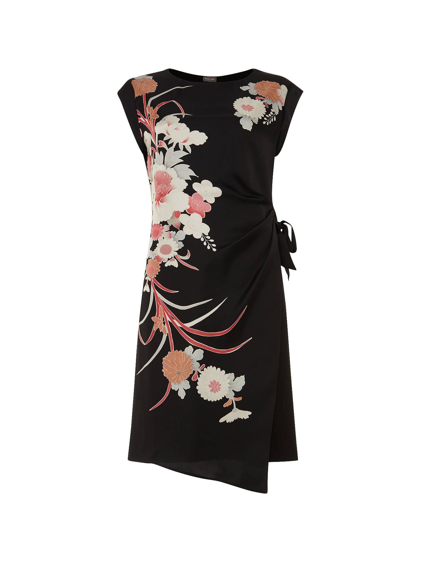 40927eef2277 Buy Phase Eight Oriental Print Dress, Black, 8 Online at johnlewis.com ...