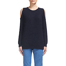 Buy Whistles Cold Shoulder Mohair Jumper, Navy Online at johnlewis.com